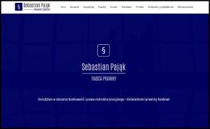 Strona internetowa Kancelaria Radcy Prawnego Sebastian Pająk