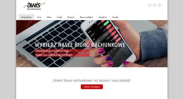 Strona internetowa biuro rachunkowe Awis Kraków – Biuro rachunkowe Kraków