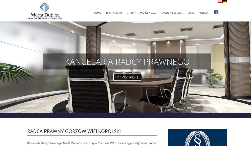 Strona internetowa – Kancelaria radcy prawnego Gorzów Wielkopolski