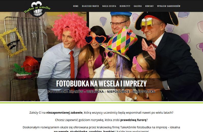 Fotobudka na wesele i imprezy – strona internetowa takeasmile.pl