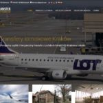 Transfery lotniskowe Kraków / screen