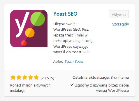 Respozytorium WordPressa - wtyczka Yoast SEO